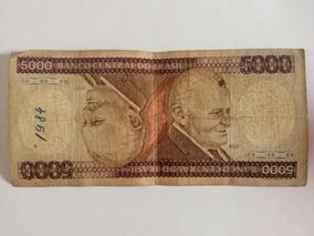 Cédula De 5000 Cruzeiros - Nota De Cinco Mil Antiga