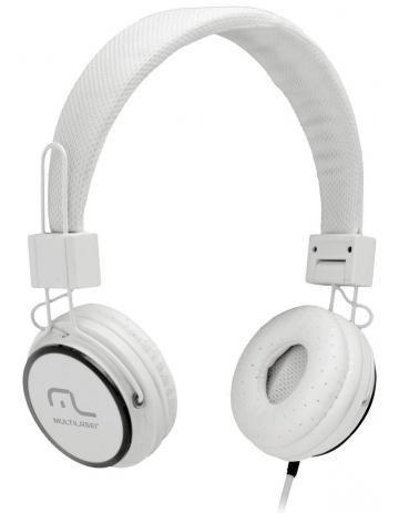 Fone De Ouvido Multilaser Headphone Fun Branco P2 - Ph087