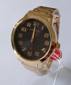 Relógio Dourado Masculino Mondaine Original 99143gpmvde4.