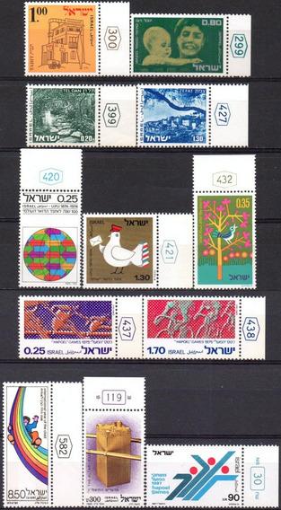 Israel - Acumulação Com 12 Selos - 1970 A 1987