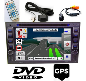 Multimídia Universal Dvd Gps 2 Din Bluetooth + Câmera Ré Usb