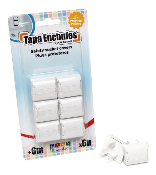Tapa Enchufes Con Botón De Tres Patas - Baby Innovation