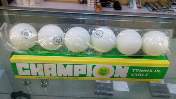 Set 6 Pelotas Ping Pong Champion
