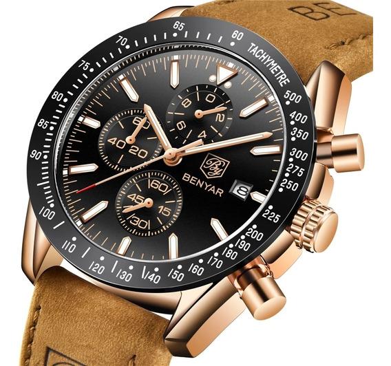 Reloj Benyar Hombre Cronógrafo Acuático Original 5 Modelos