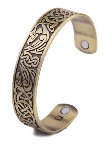 Pulseira Bracelete Fênix Nórdico Série Vikings Rollo Ragnar