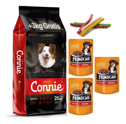 Comida Perro Connie Adulto 22k + 2k + 3 Pates + Snacks