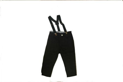 Imagem 1 de 2 de Calça Com Suspensório Jeans Color Menino 1 À 3 Anos