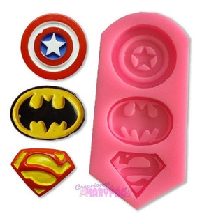 Molde Escudos Superheroes Batman Superman Capitan America