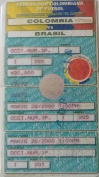 Ingresso Colômbia 0 X 0 Brasil - Eliminatórias 28/03/2000