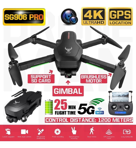 Drone Sg 906 Pro. 4k, Gps, 25 Min. Vôo, Alc. 1200 M , Novo !