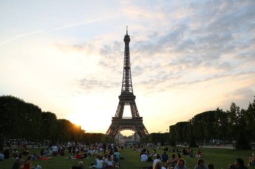Cuadro 4-torre Eiffel-paris-atardecer-2 32x20   C/marco