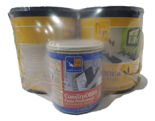 Kit Pintura Colonial Blanco Glaciar+ Pasta Construobra Vp