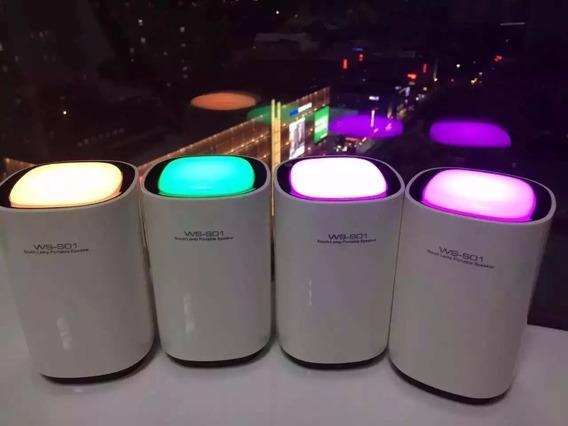 Caixa De Som Bluetooth Led C/ Luminária Abajur Touch