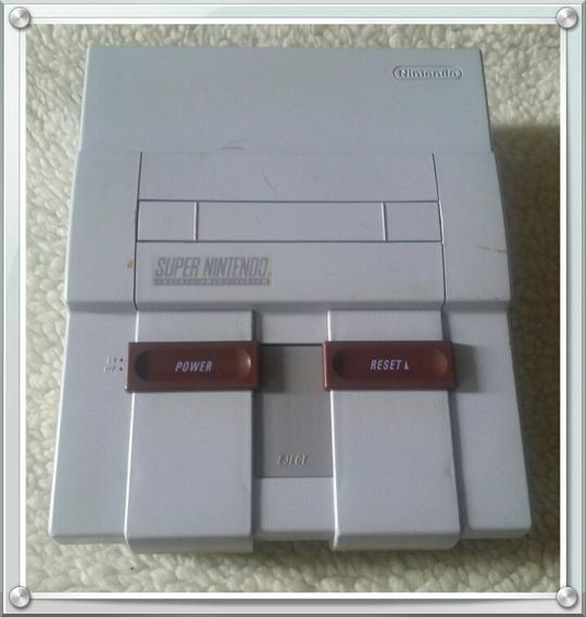 Console Super Nintendo Snes Completo + 3 Jogos Paralelos