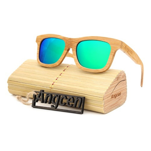 d16fdf7f51 Gafas De Sol De Madera Marco Completo + Estuche En Madera