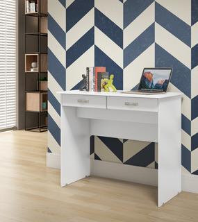 Escrivaninha 2 Gavetas Branco Ej