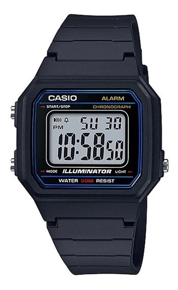 Relogio Casio W-217h Alarm Crono Data Nf Wr50m Retrô Vintage