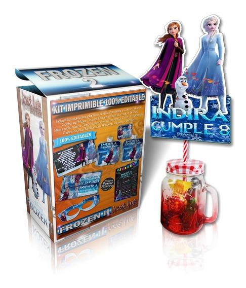 Kit Imprimible Frozen 2 Editable Invitacion Pizarra