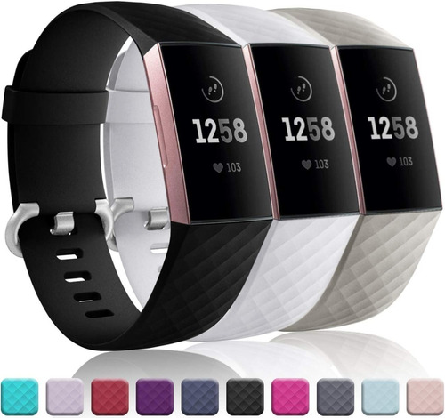 3 Mallas De Reloj Fitbit Charge 4 / Charge 3 / Talle Small