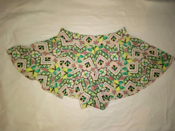 Shorts Falda Plisada Short Falda Estampado De Mariposas