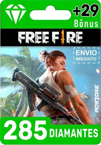 Imagem 1 de 9 de Cartão Presente Free Fire 314 Diamantes Br Brasil
