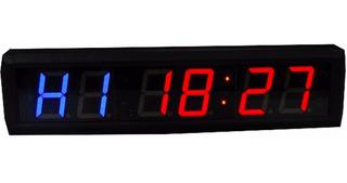 Reloj Timer Crossfit Digital Interval Con Bocina Led 6 Dig