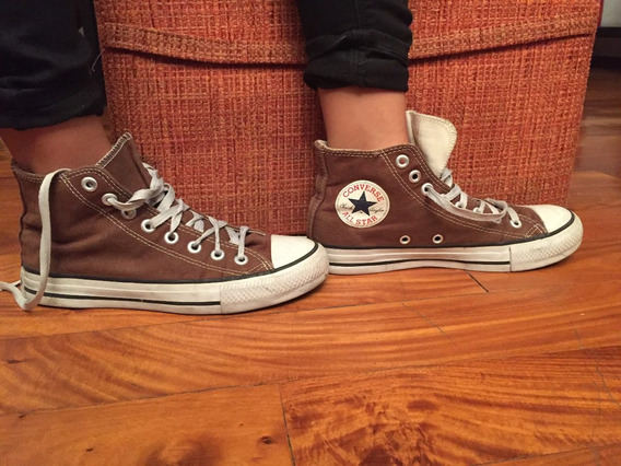 Zapatillas Converse All Star Botitas Marrones