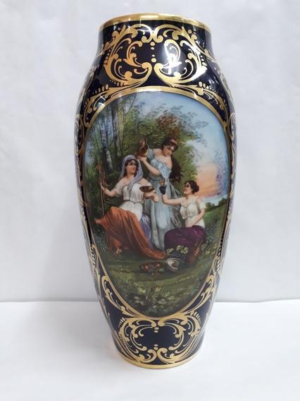 Florero De Porcelana Limoges Antiguoñ