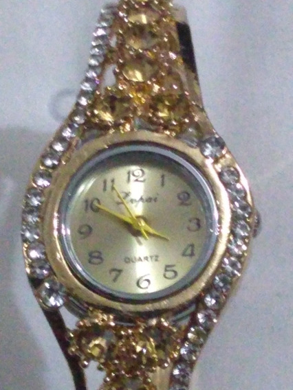 Relógio Feminino Com Pedras
