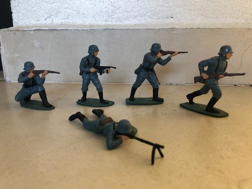 Soldados Alemanes Ww2 Escala 1/32 (airfix) Pint. A Mano!