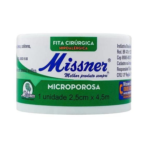 Kit C/ 6 Fita Cirurgica Micropore 2,5 X 10 Metros Missner