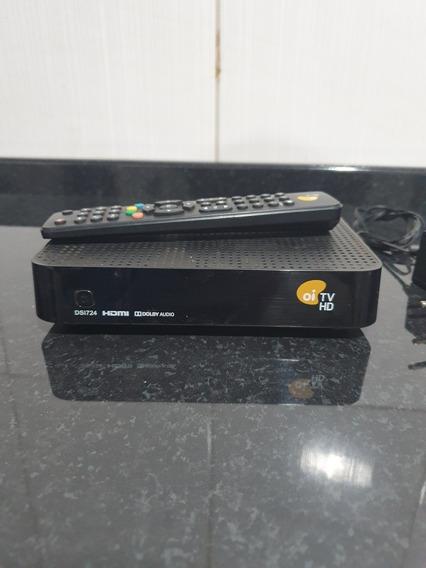 Receptor Oi Tv + Fonte De Alimentação + Controle + Cartão