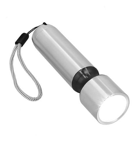 Imagen 1 de 8 de Lámpara Led De Metal Con Botón De Presión
