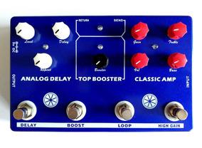 Pedal Mosky Delay Booster Overdrive De Amp Para Guitarra