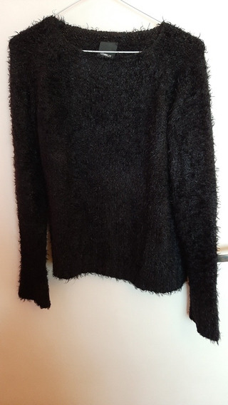 Sweater Negro De Mujer Complot Talle M (40)