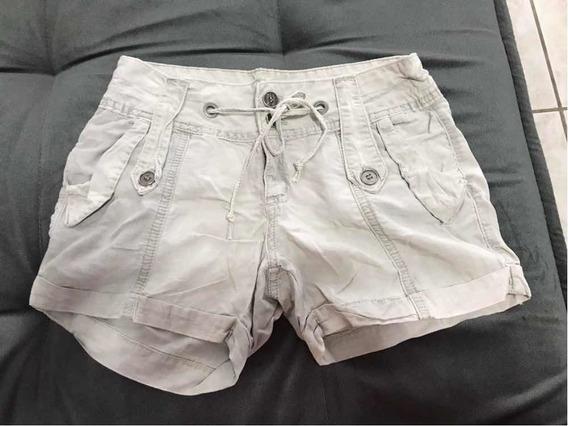 Short Tecido Bege Feminino Monnari Jeans Tamanho 34