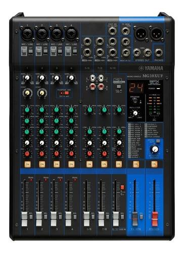 Consola Mixer Yamaha Mg10xuf 10 Canales Faders  - Palermo