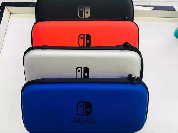 Case Capa Estojo Nintendo Switch Cores Azul/vermelha/preta
