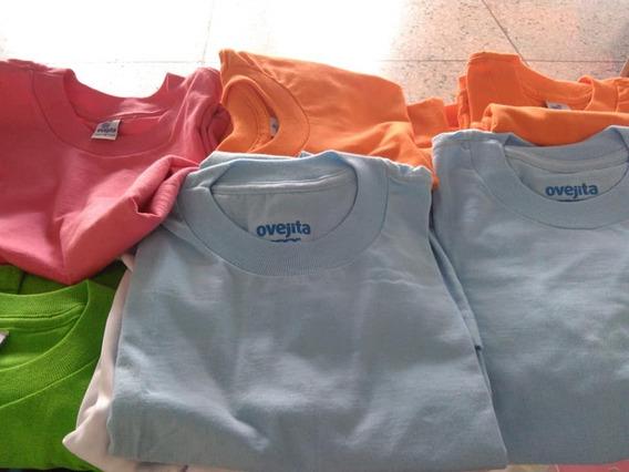 Franelas, Camisetas, Algodon Ovejita, Blancas,colores Varios
