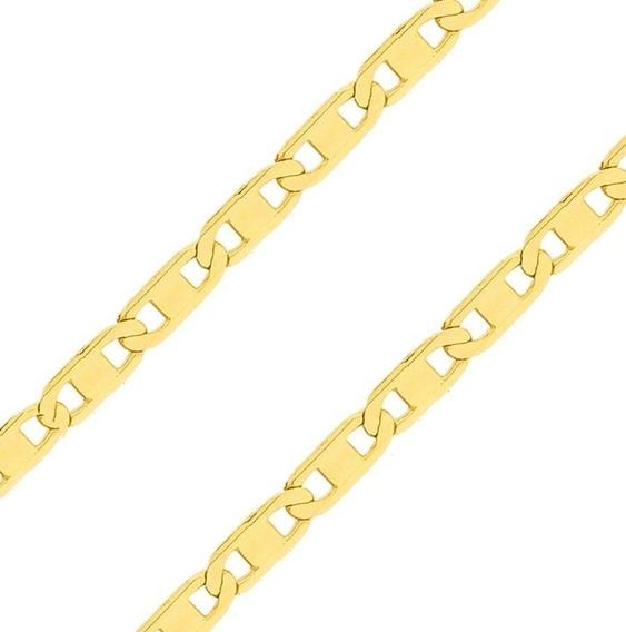 Pulseira Piastrine De Ouro 18k 3mm 3,4 Gr
