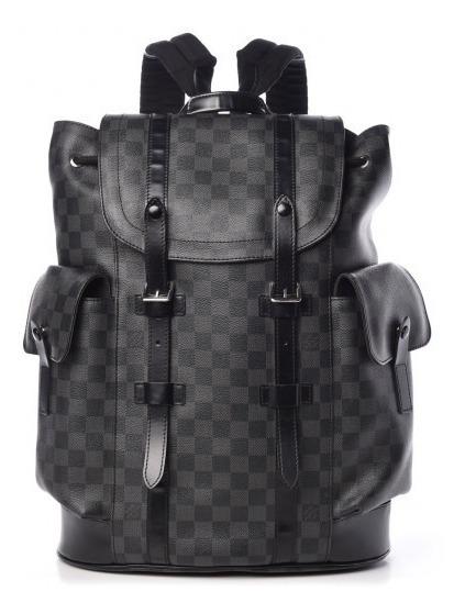 Mochila Christopher Couro Código Premium Top Louis Vuitton