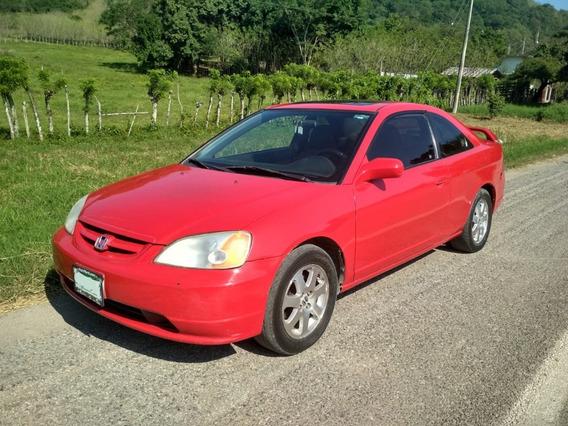 Honda Civic Rojo Motor 1.7 Coupe Con Quemacocos