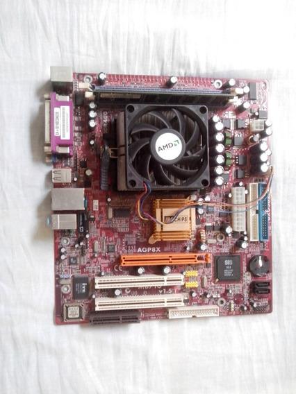 Placa Mãe Pcchips M871g V1.5 Socket 754