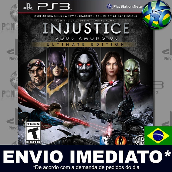 Injustice Gods Among Us Ultimate Ps3 Psn Dublado Português