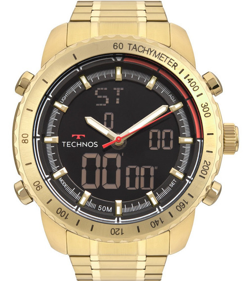 Relógio Technos Masculino Dourado Digital W23745ac/4p