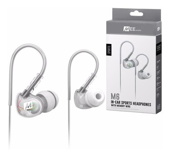 Fone In Ear Mee Audio M6 Sport Clear Original Oferta + Nf