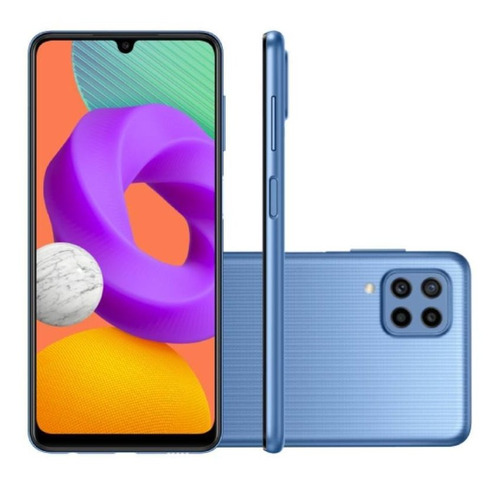 Celular Smartphone Samsung Galaxy M22 M225f 128gb Azul - Dual Chip