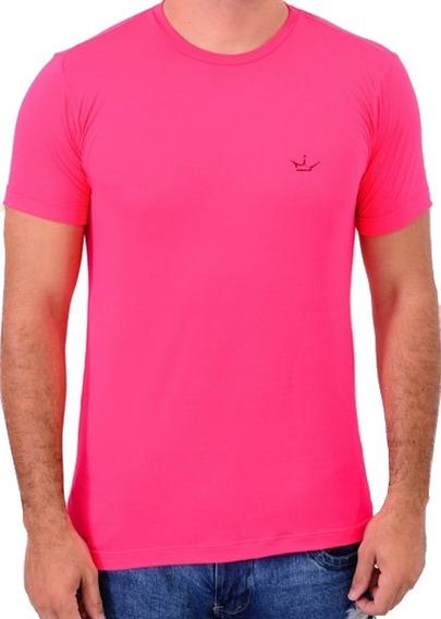 Camiseta Dri Fit 100% Poliamida Rosa