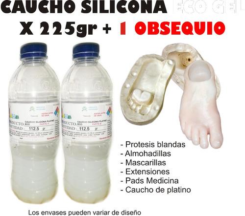 Caucho Silicona Liquido Moldes Gel X 225gr Almohadillas Prot