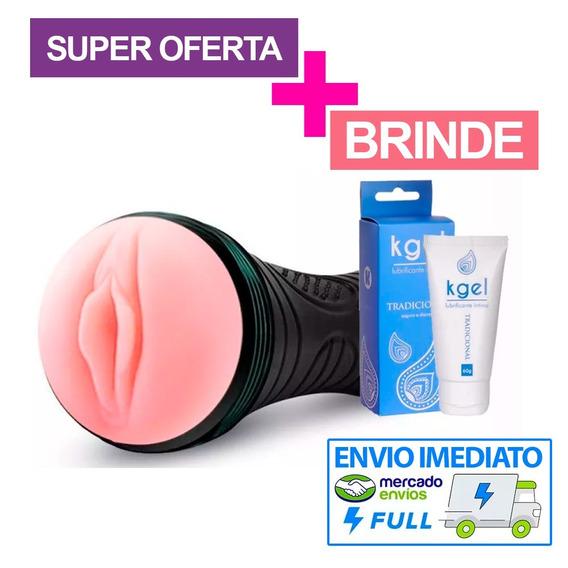 Bucetão Masturbador Vagina Lanterna Masculino Vibra + Gel Mf